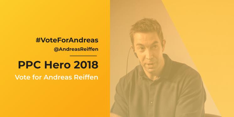 PPC Hero's Top 25 is coming…#VoteForAndreas 2018